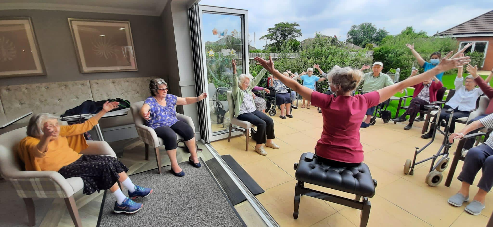 Exercise at The Burlington Care Home