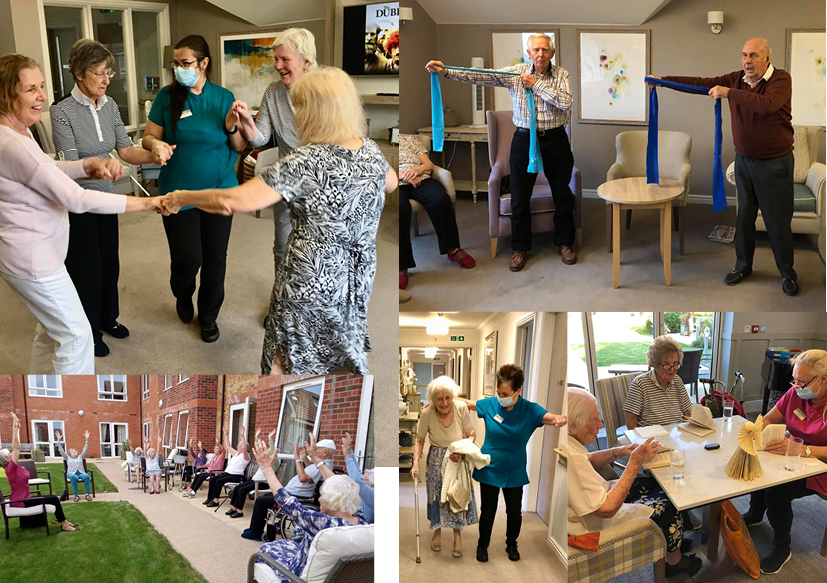 Fundraising for Dementia Awareness charity at The Burlington Care Home