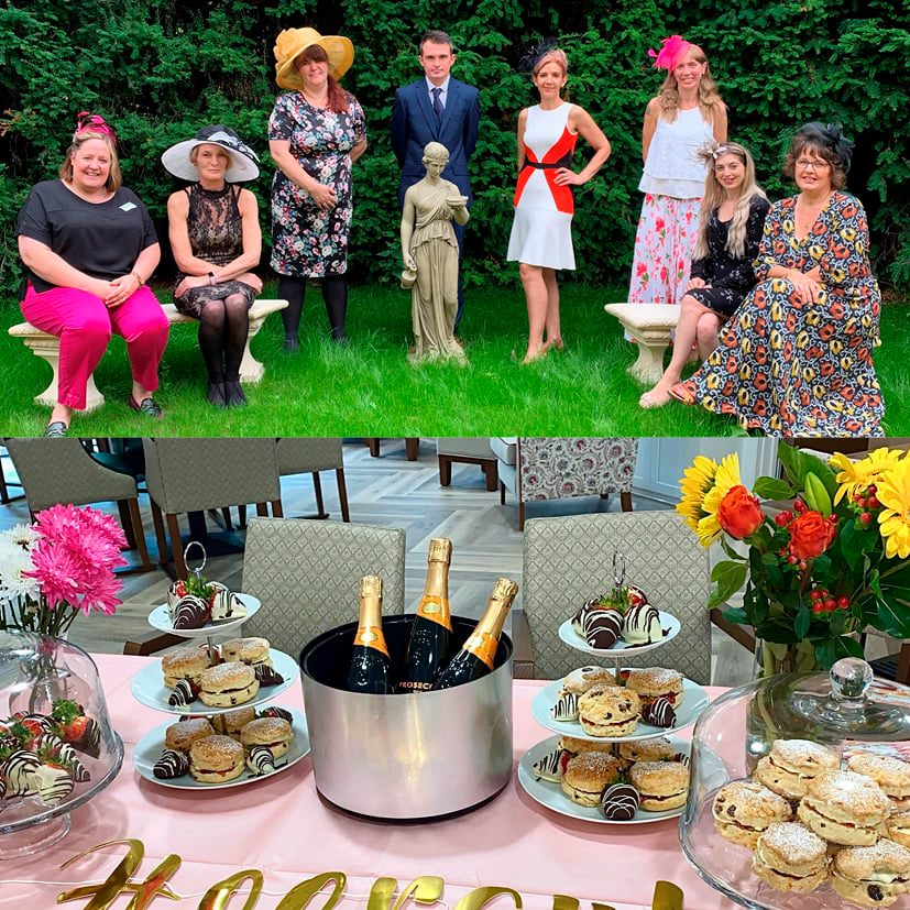 Newmarket ladies day at Brampton Manor Care Home